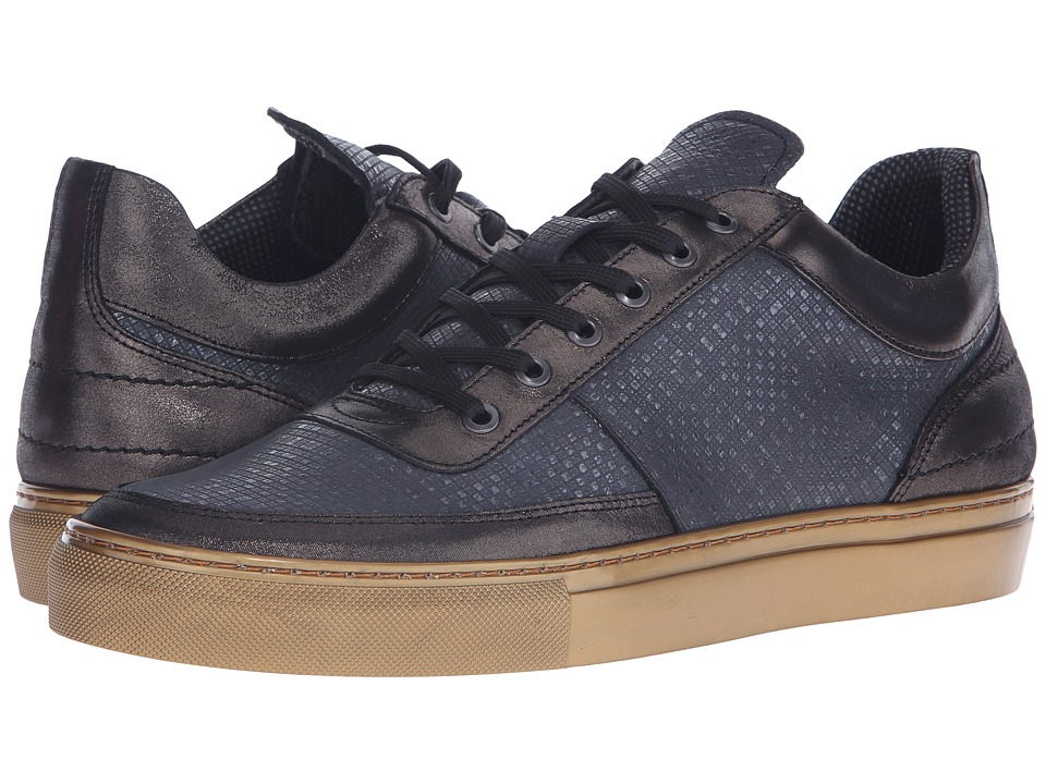 Steve Madden Metel Black/Gold Mens Lace up casual Shoes