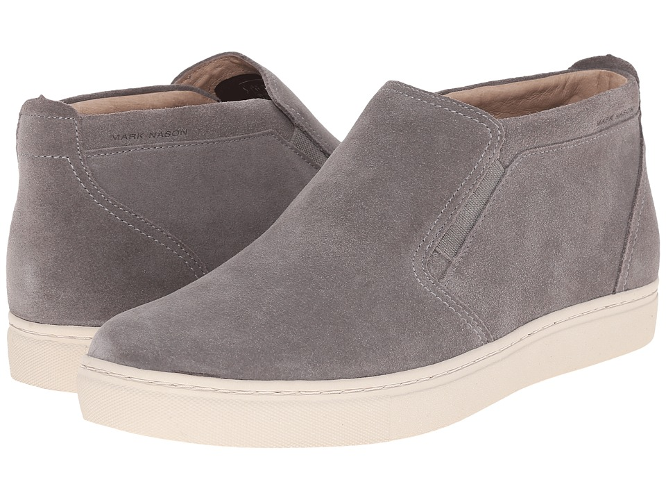 Mark Nason Banning Charcoal Suede/White Bottom Mens Slip on Shoes