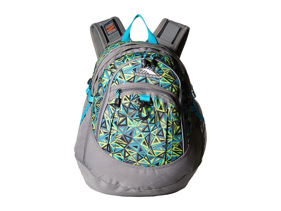 High Sierra - Fat Boy Backpack (Electric Geo/Charcoal/Tropic Teal) Backpack Bags