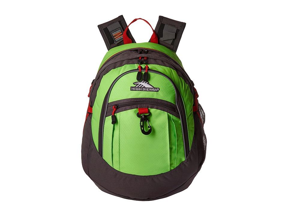 High Sierra - Fat Boy Backpack (Lime/Slate/Redline) Backpack Bags