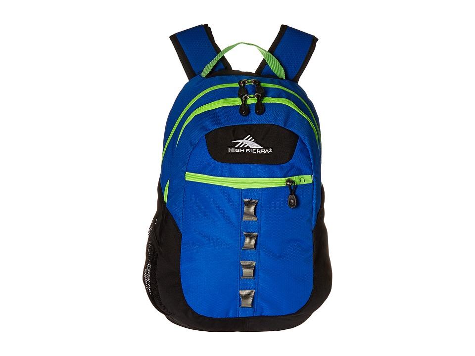 High Sierra Opie Backpack Vivid Blue/Black/Lime Backpack Bags