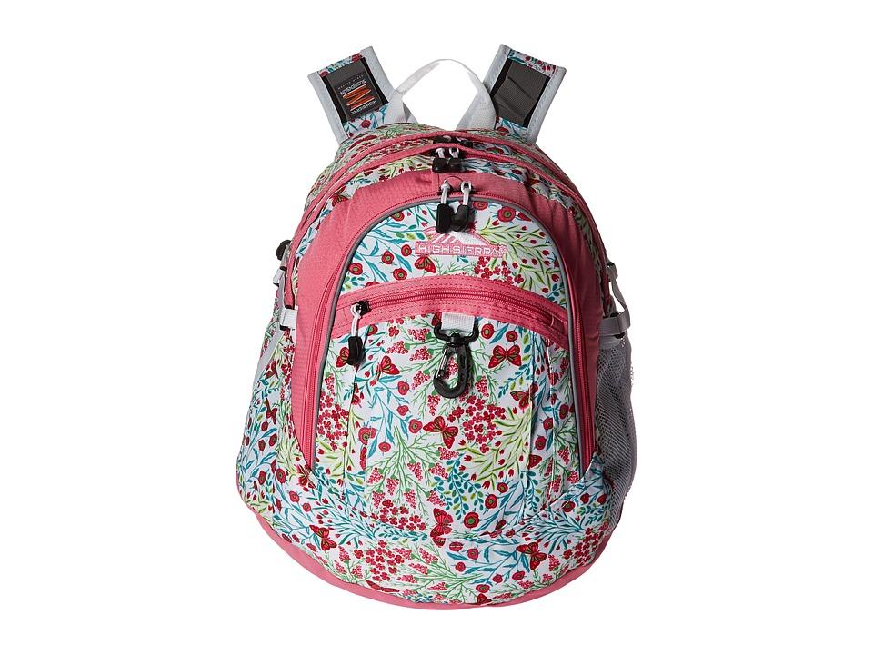 High Sierra - BTS Fat Boy Backpack (Summer Flight/Pink Lemonade/White) Backpack Bags