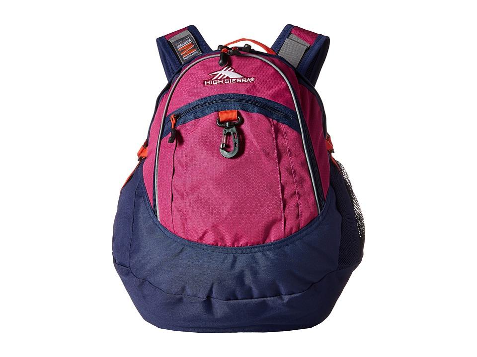 High Sierra - BTS Fat Boy Backpack (Razzmatazz/True Navy/Redline) Backpack Bags