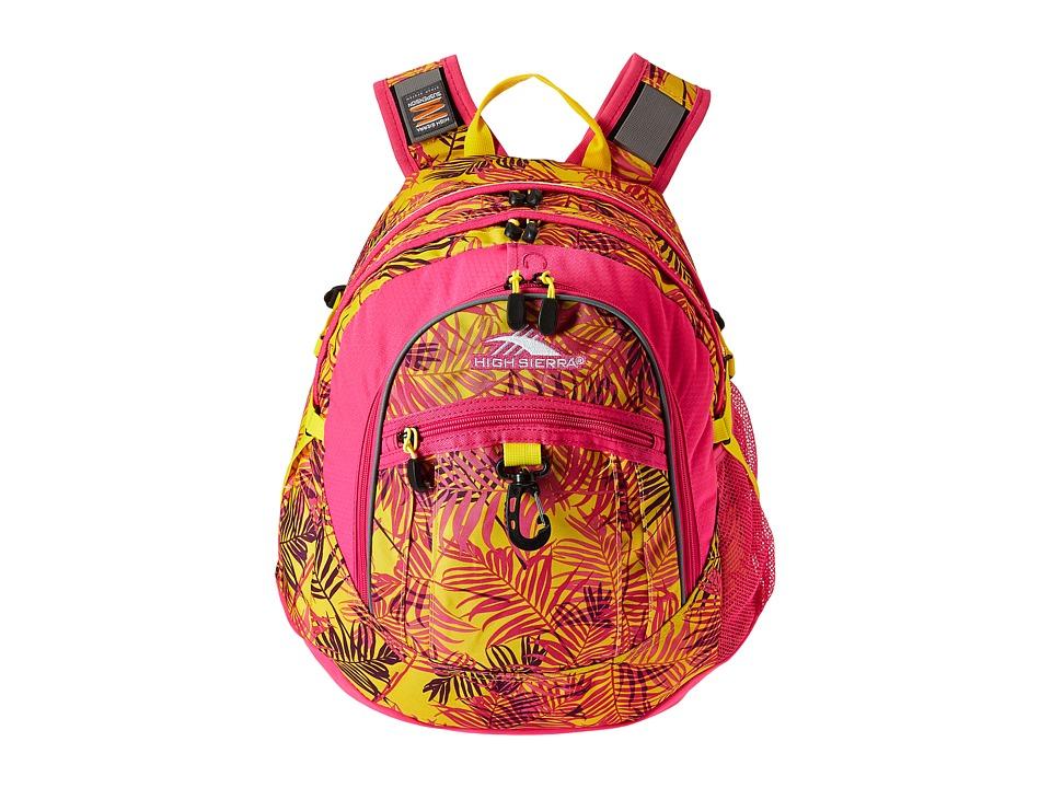 High Sierra - BTS Fat Boy Backpack (Paradise/Flamingo/Sunburst) Backpack Bags