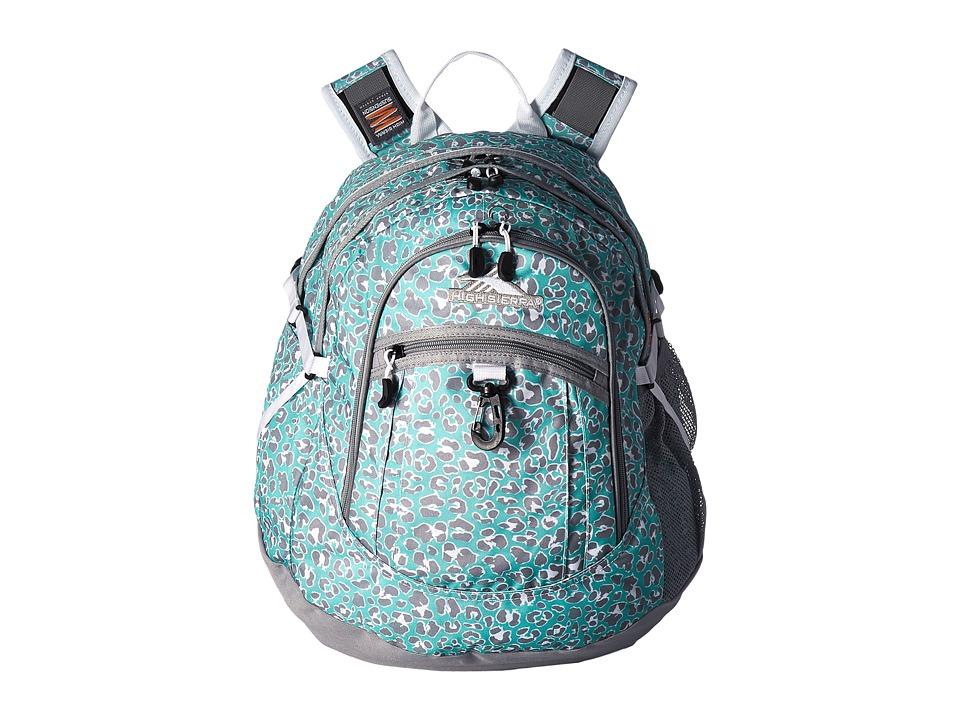High Sierra - BTS Fat Boy Backpack (Mint Leopard/Ash/White) Backpack Bags