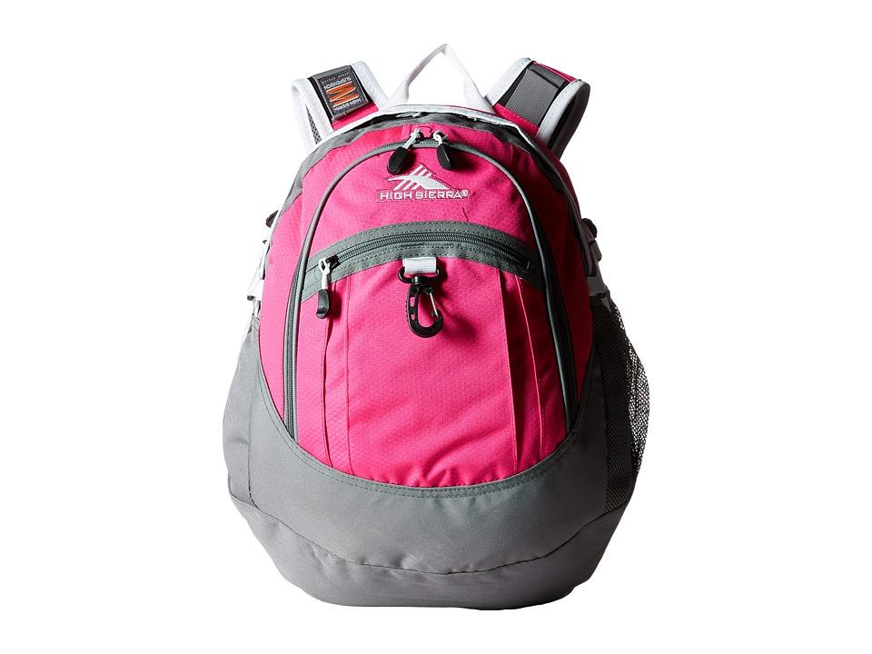 High Sierra - BTS Fat Boy Backpack (Flamingo/Charcoal/White) Backpack Bags