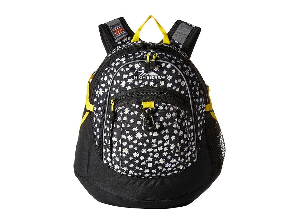 High Sierra - BTS Fat Boy Backpack (Daisies/Black/Sunburst) Backpack Bags