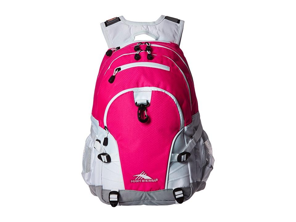 High Sierra - Loop Backpack (Flamingo/White/Ash) Backpack Bags