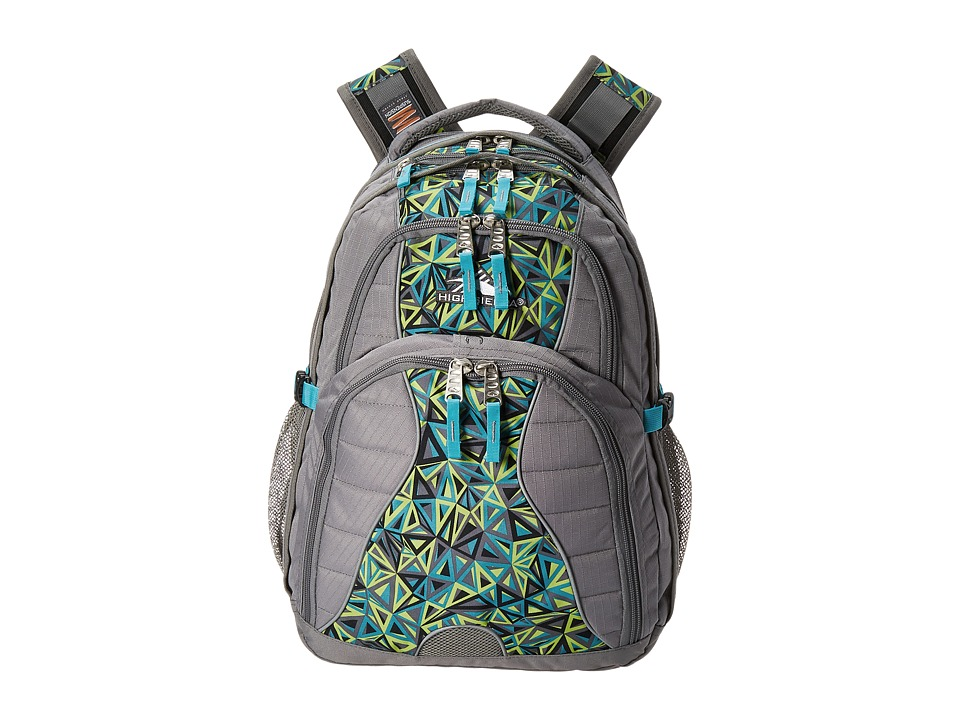 High Sierra - Swerve Backpack (Charcoal/Electric Geo/Tropic Teal) Backpack Bags