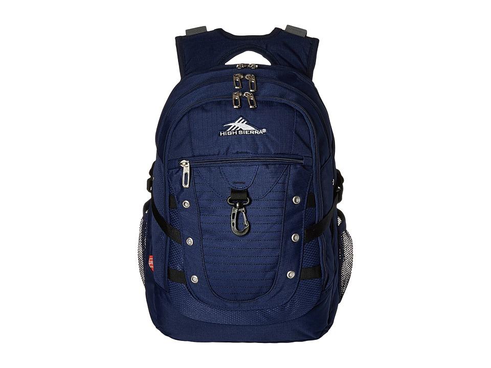 High Sierra - Tactic Backpack (True Navy/Black) Backpack Bags