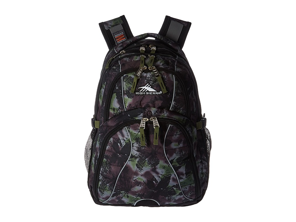 High Sierra - Swerve Backpack (Forest/Black/Moss) Backpack Bags