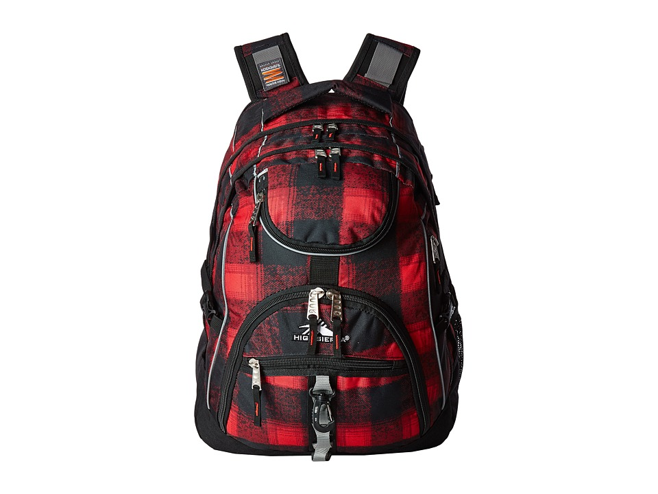 High Sierra - Access Backpack (Buffalo Plaid/Black) Backpack Bags