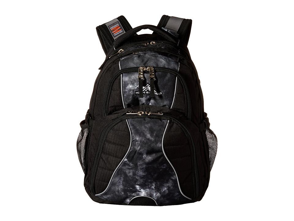 High Sierra Swerve Backpack (Black/Atmosphere) Backpack Bags