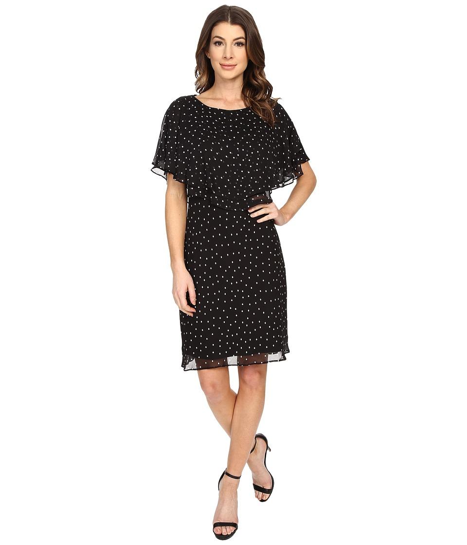 Tahari by ASL Karen C Dress Black/White Womens Dress