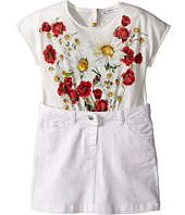 Dolce & Gabbana Kids - Fiori Combo Dress (Toddler/Little Kids)