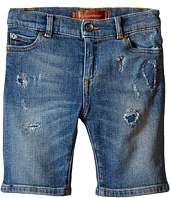 Dolce & Gabbana Kids - Distressed Denim Shorts in Medium Blue (Toddler/Little Kids)