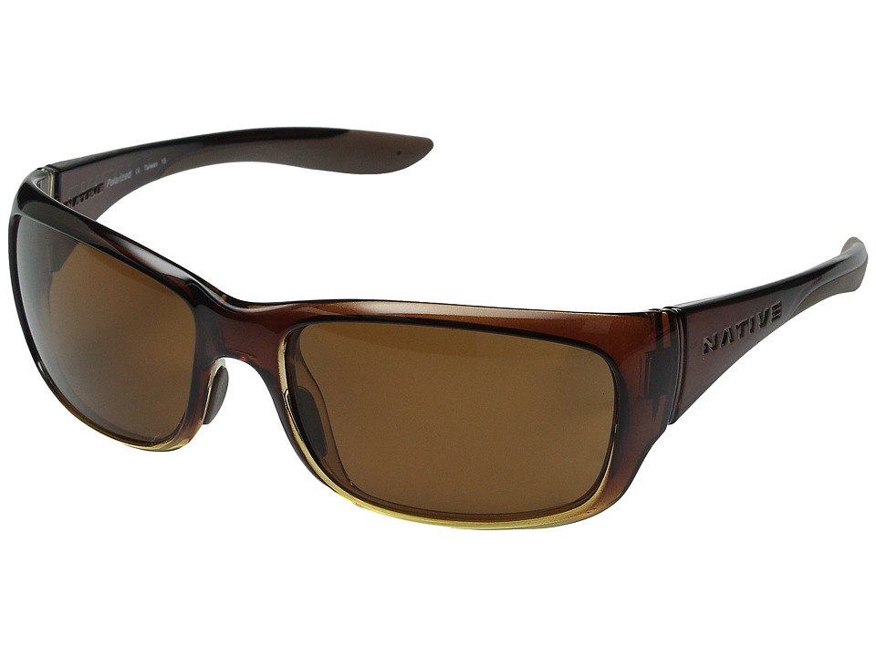 Native Eyewear Kannah (Stout Fade/Brown) Sport Sunglasses