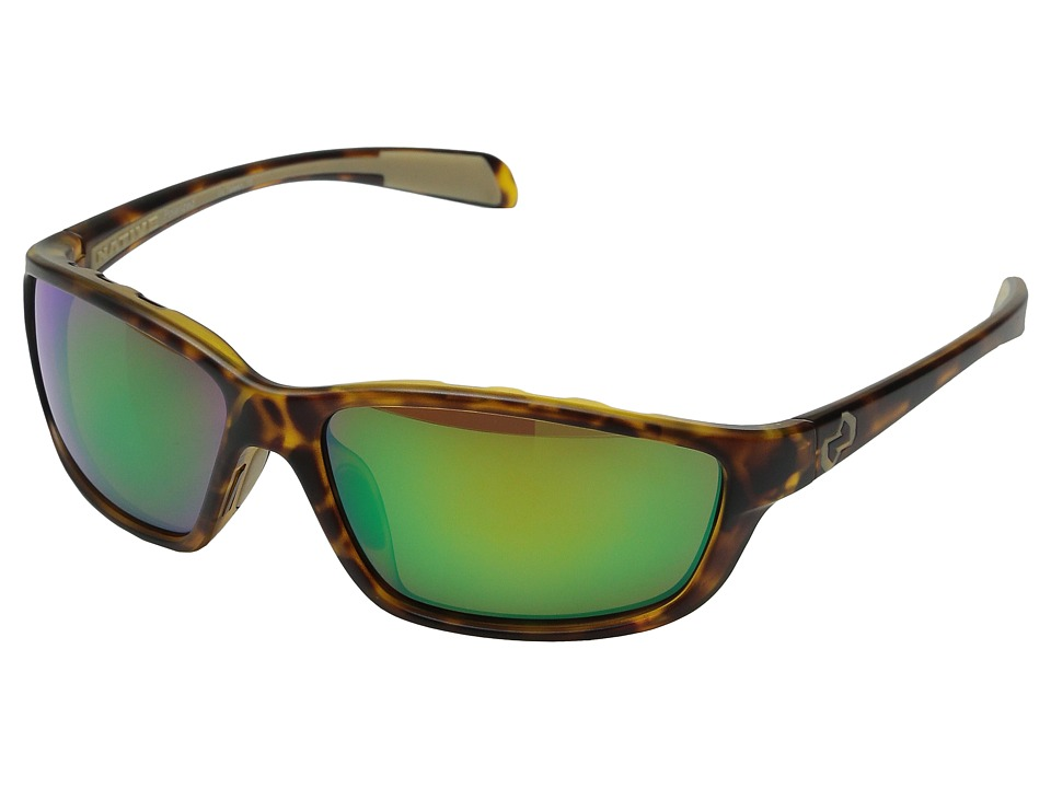 Native Eyewear - Kodiak (Desert Tort/Green Reflex) Athletic Performance Sport Sunglasses