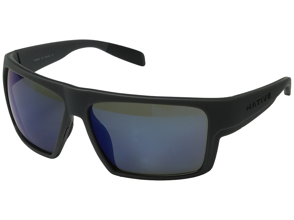 Native Eyewear Eldo (Granite/Asphalt/Granite/Blue Reflex) Sport Sunglasses