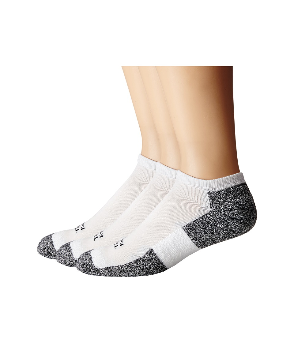 Thorlos - Lite Running Micro-Mini 3-Pair Pack (White/Black) Mens No Show Socks Shoes