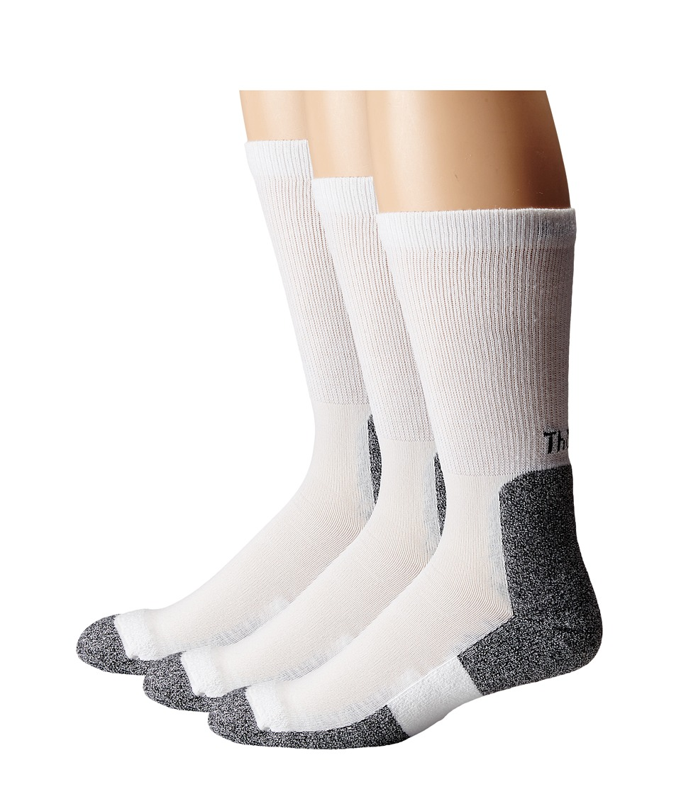 Thorlos - Lite Running Crew 3-Pair Pack (White/Black) Mens Crew Cut Socks Shoes