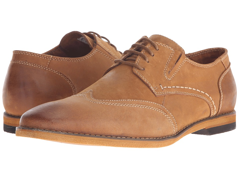 Steve Madden Jeneral Tan Mens Lace up casual Shoes