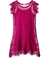Ella Moss Girl - Short Sleeve Shift Crochet Dress w/ Cami Dress (Big Kids)