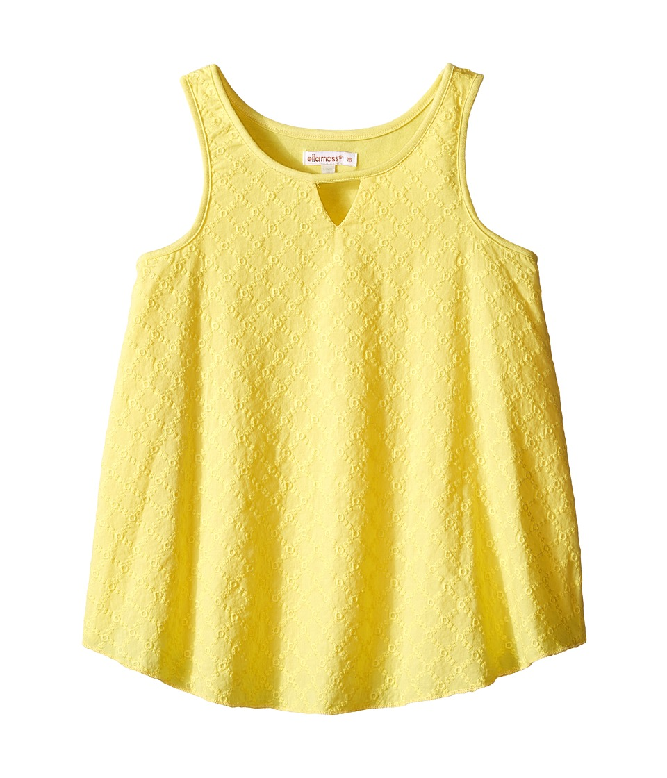 Ella Moss Girl Blaire Woven Tank Top Big Kids Yellow Girls Sleeveless