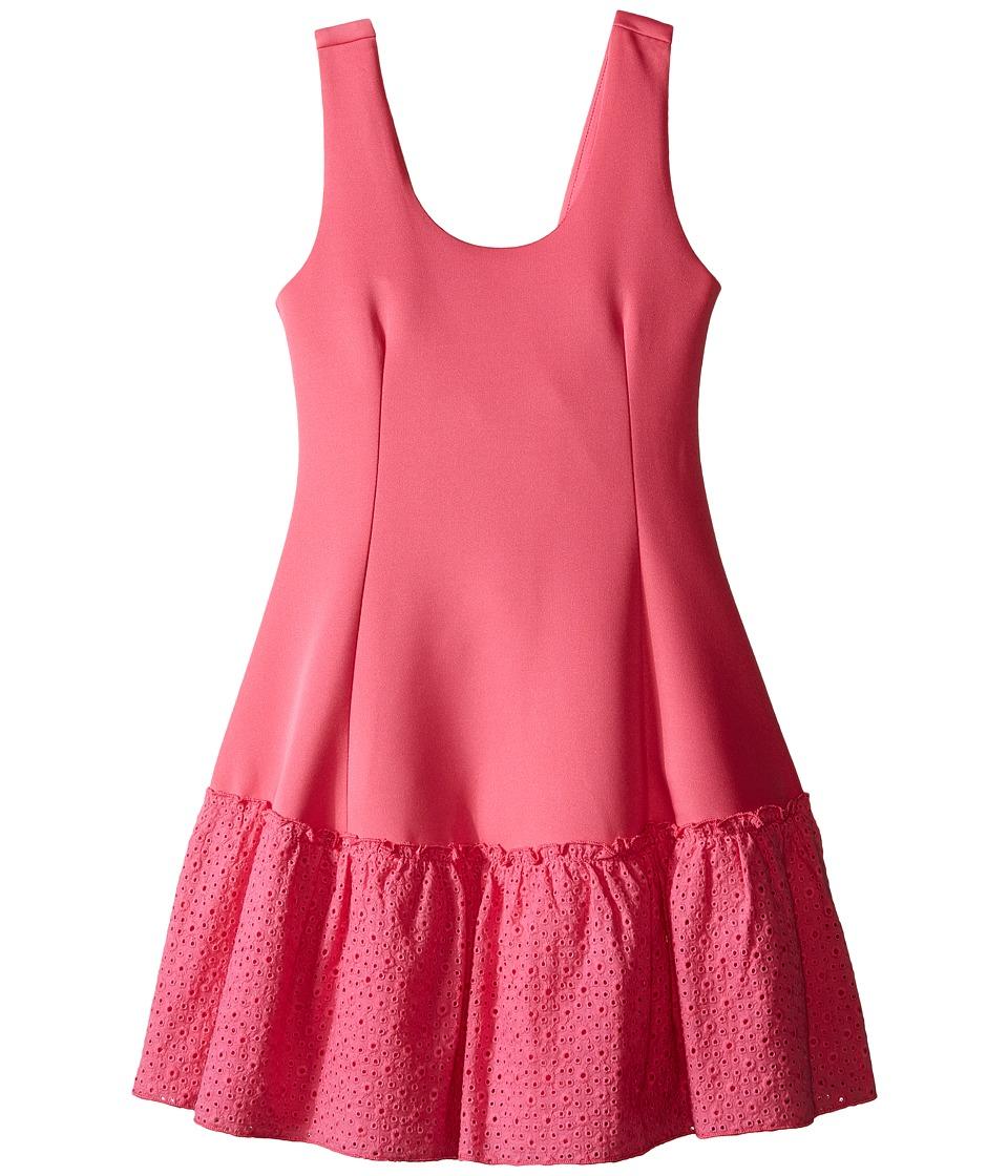 Ella Moss Girl Anneka Drop Waist Tulip Dress Big Kids Pink Girls Dress