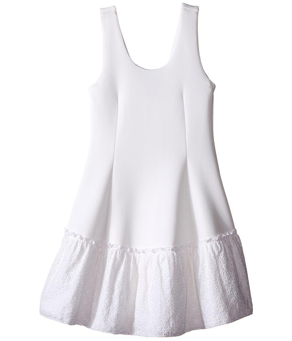 Ella Moss Girl Anneka Drop Waist Tulip Dress Big Kids White Girls Dress