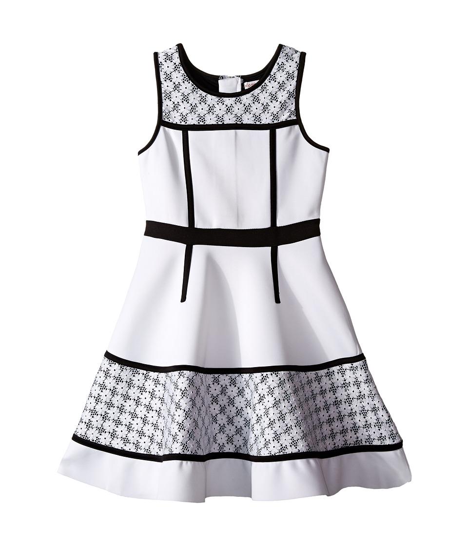 Ella Moss Girl Anneka Fit Flare Lace Dress Big Kids White Girls Dress