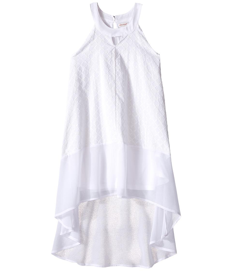Ella Moss Girl Blaire Halter A Line Dress Big Kids White Girls Dress