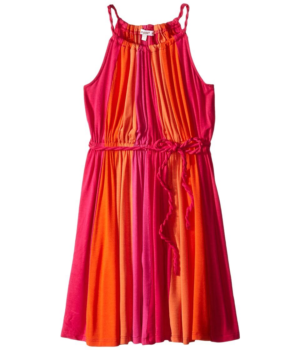 Ella Moss Girl Bella Twisted Color Block Dress Big Kids Dark Pink Girls Dress