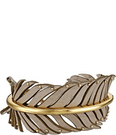 COACH - Leather Studded Feather Wrap Bracelet