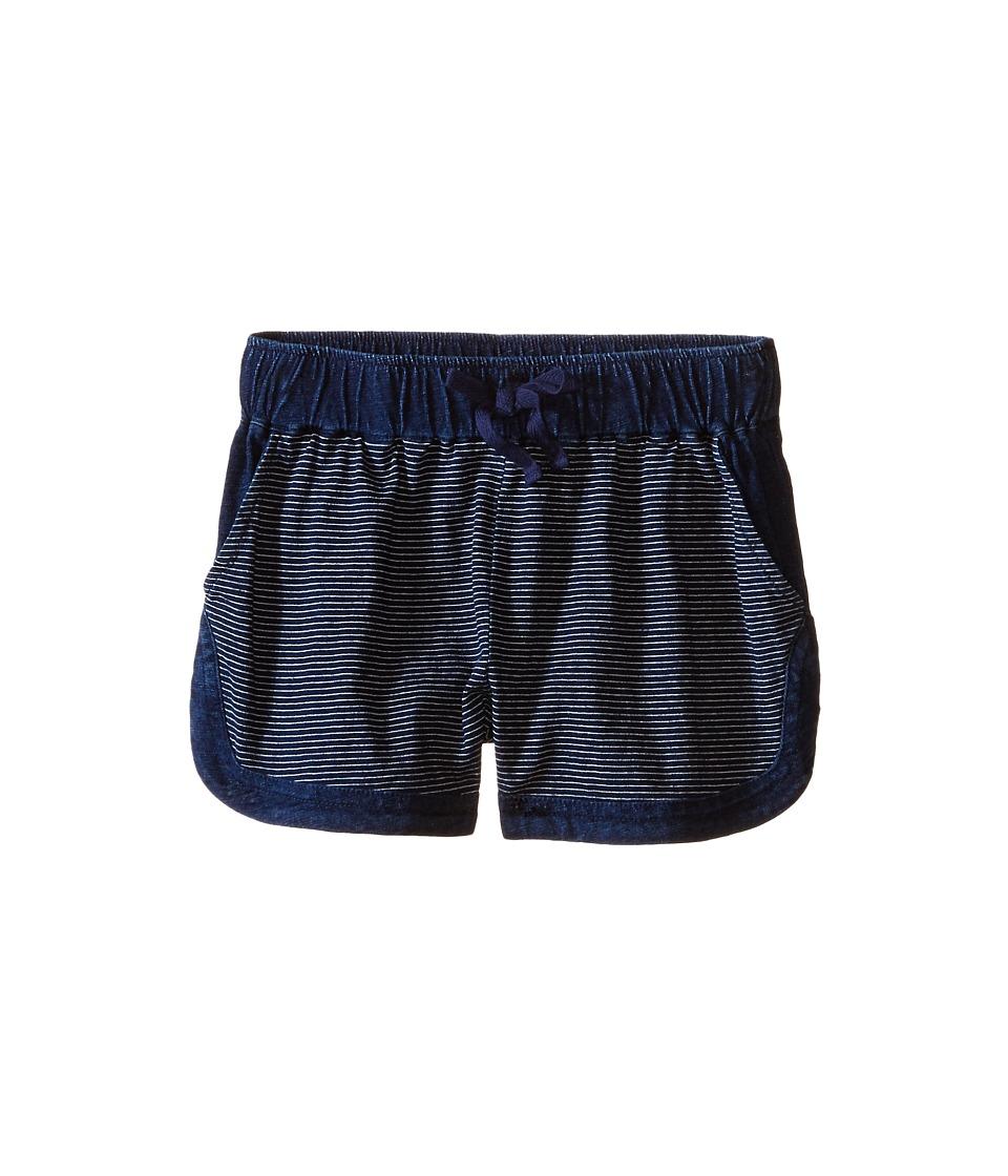 Splendid Littles Indigo Striped Yarn Dye Shorts Big Kids Dark Stone Stripe Girls Shorts