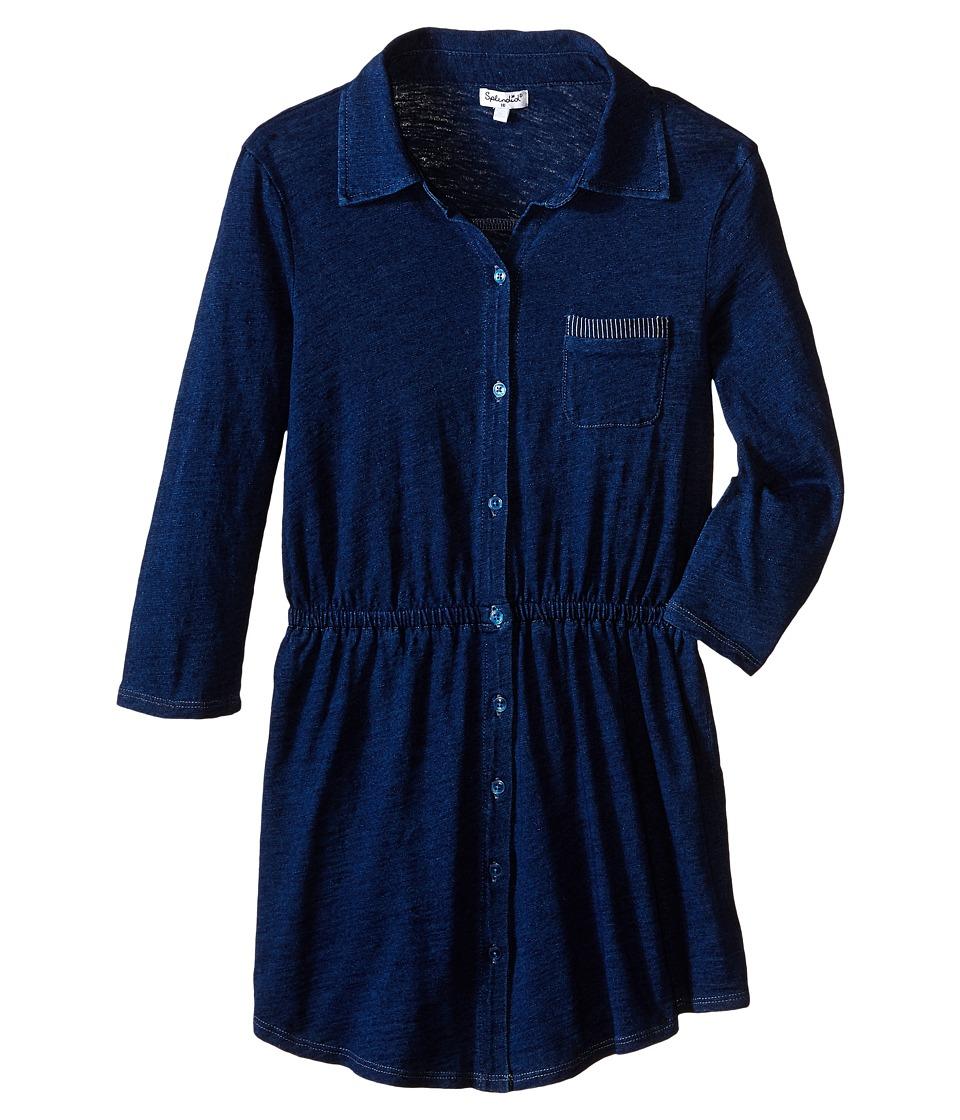 Splendid Littles - Indigo Knit Shirt Dress