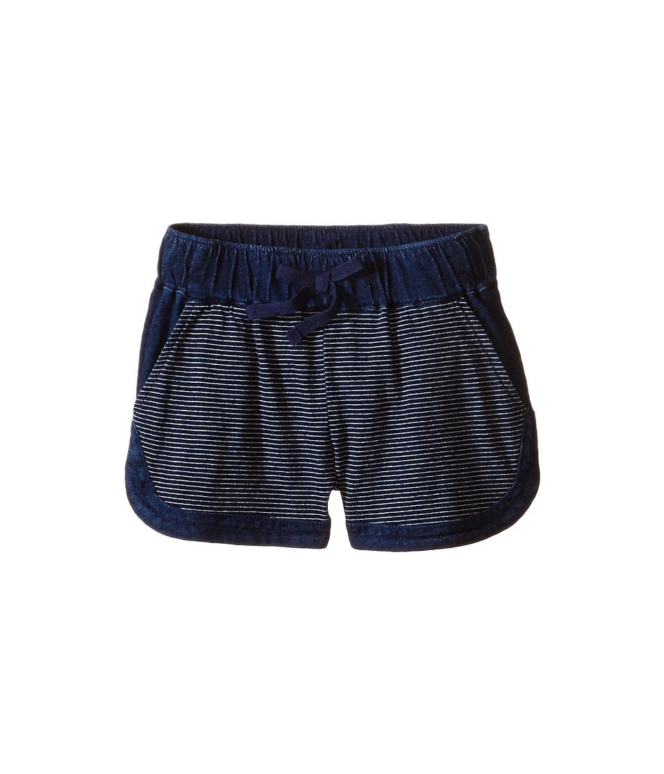 Splendid Littles Indigo Striped Yarn Dye Shorts Little Kids Dark Stone Stripe Girls Shorts