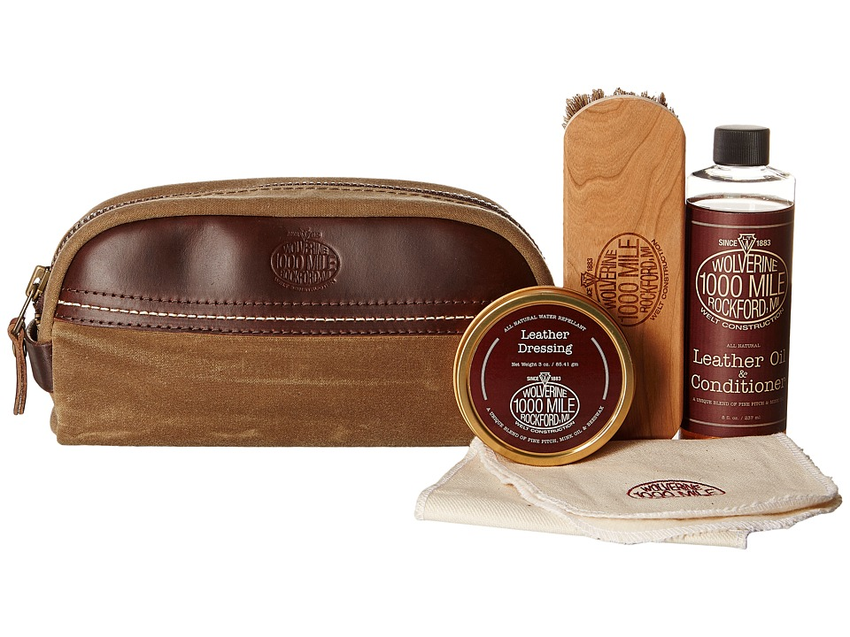 Wolverine 1000 Mile Shoe Care Kit (Brown) Remedies Foot Care