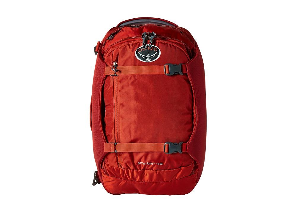 Osprey Porter 46 Hoodoo Red Backpack Bags