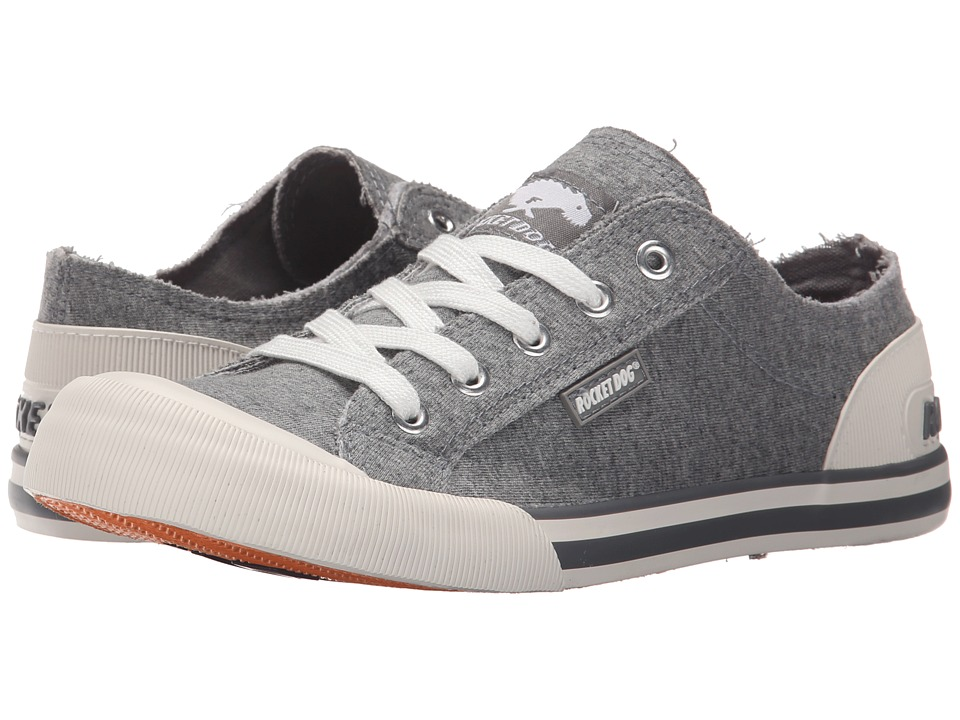 Rocket Dog Jazzin Grey Summer Jersey Womens Lace up casual Shoes