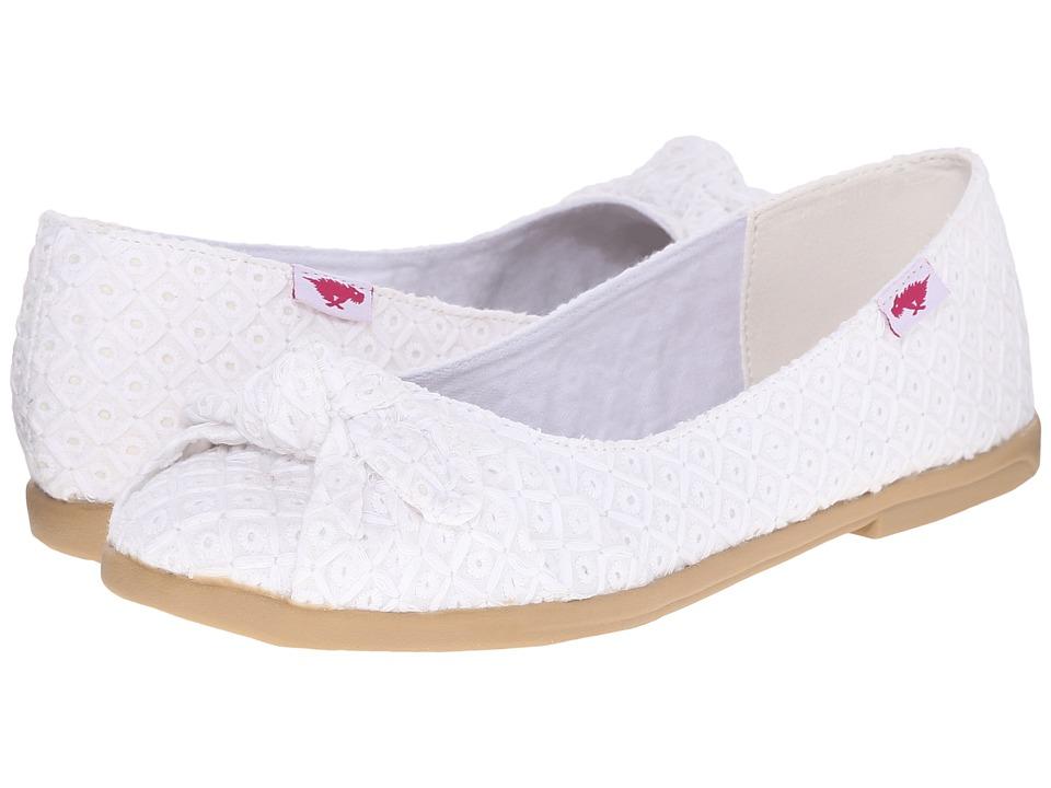Rocket Dog Jiggy White Kingsley Womens Flat Shoes