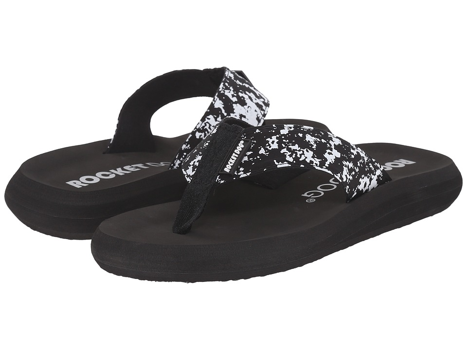 Rocket Dog Spotlight Comfort Black Marble Womens Sandals