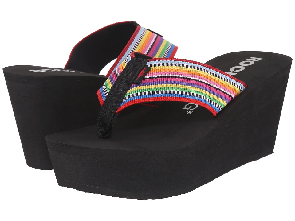 Rocket Dog Diver Red Multi Santa Maria Womens Sandals
