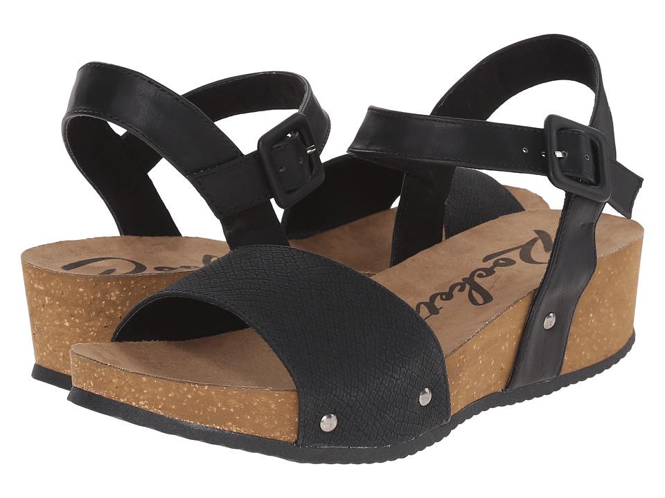 Rocket Dog Gem Black Snakewood Womens Sandals