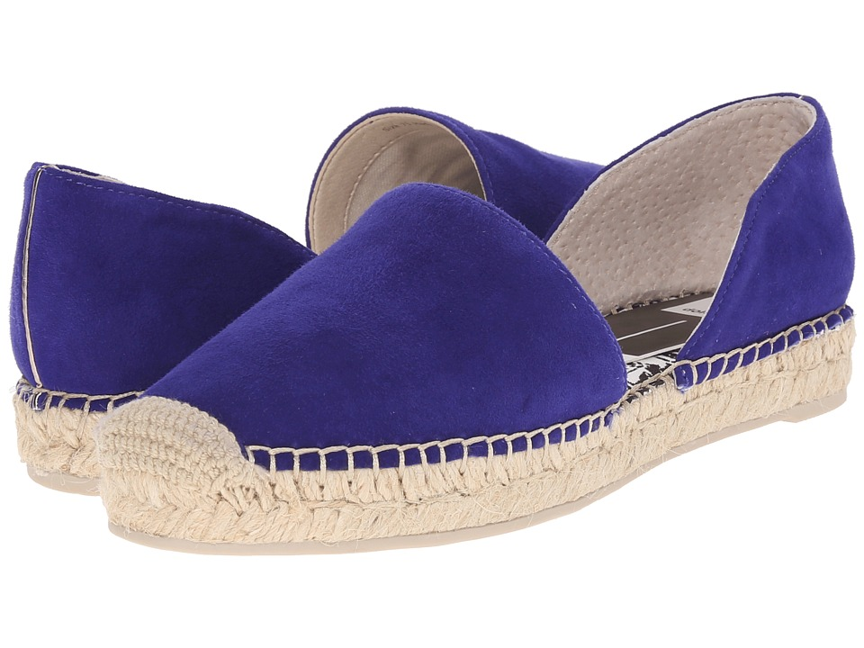 Dolce Vita Ciara Electric Blue Suede Womens Flat Shoes