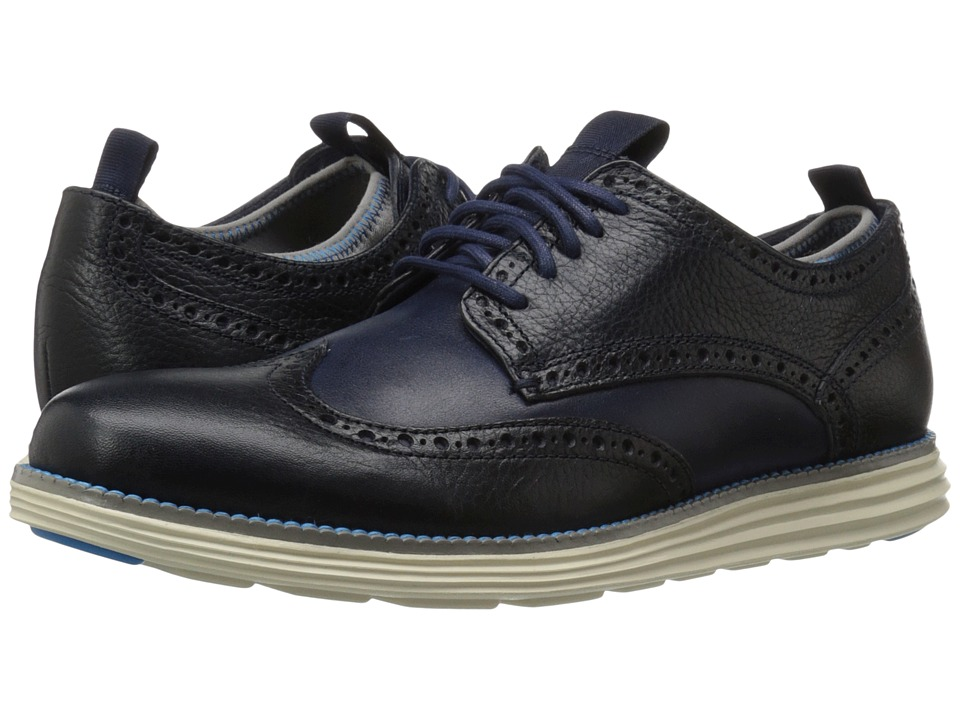 Cole Haan - Original Grand Neoprene Lined Wing Oxford (Marine Blue/Ultra Blue) Men