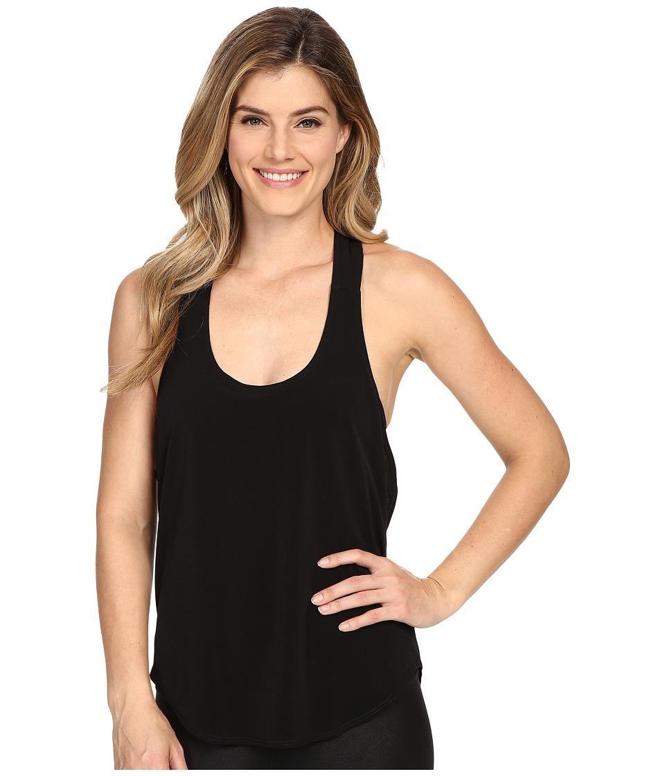 Onzie Elastic Back Tank Top Black/Deep Royal Womens Sleeveless