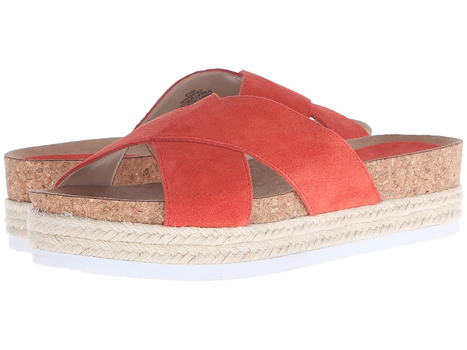 Nine West Amyas Red Orange Suede Womens Slide Shoes