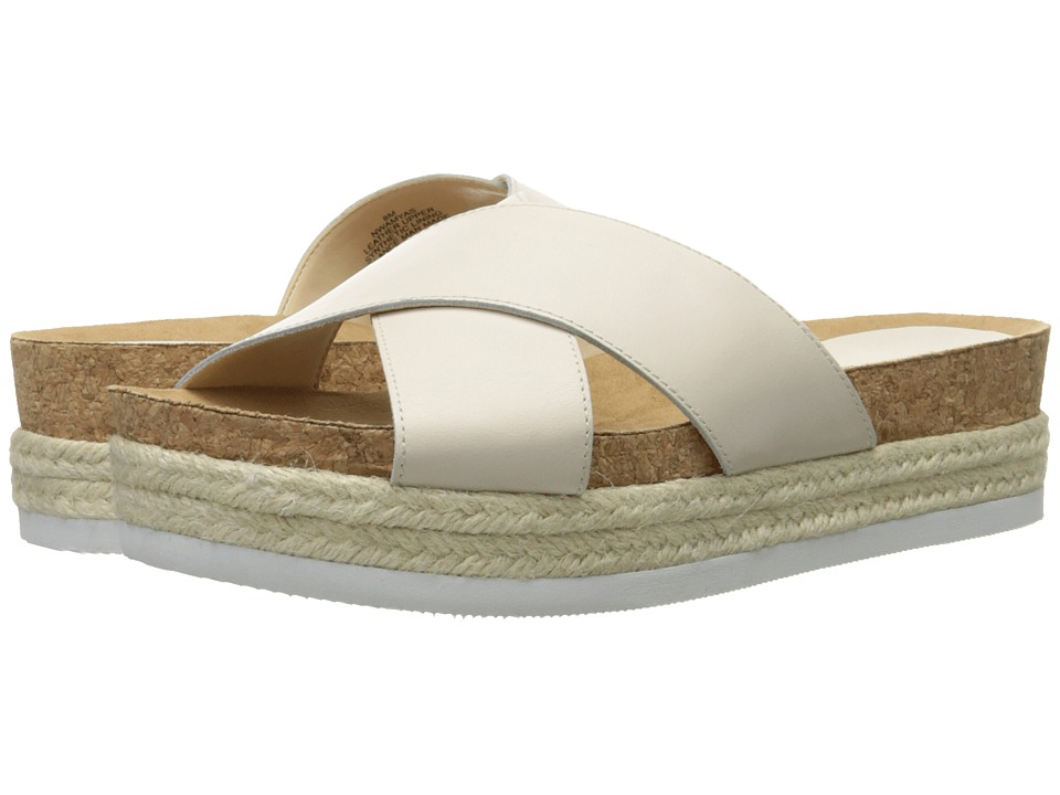 Nine West Amyas Off White Leather Womens Slide Shoes