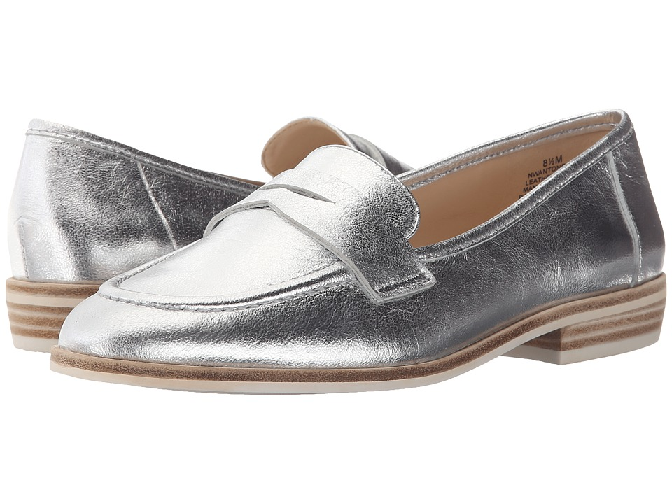 Nine West Antonecia Silver Metallic Womens Shoes